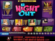 A Night Out Slots Pay Table