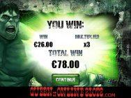 Incredible Hulk Slots Screenshot Bonus Win
