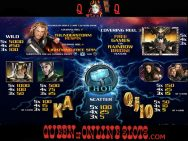 Thor The Mighty Avenger Slots Pay Table