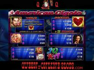 American Gigolo Slots Pay Table