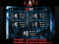 Basic Instinct Slots Pay Table 2