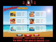 Baywatch Slots Pay Table