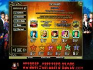 Beverly Hills 90210 Slots Pay Table