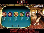 Big Lebowski Slots Pay Table