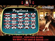 Big Lebowski Slots Paylines
