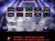 Chippendales Slots Paylines