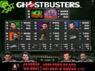 Ghostbusters Slots Pay Table