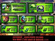 Green Lantern Slots Paytable