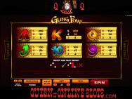 Gung Pow Slots Paytable