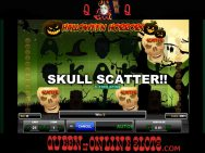 Halloween Horrors Skull Scatter