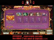 Happy Halloween Pay Table