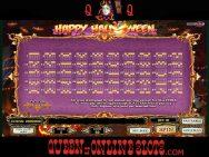 Happy Halloween Paylines