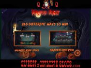 Haunted Night Slots Game Features