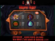 Haunted Night Slots Pay Table