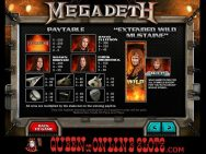 Megadeth Slots Pay Table
