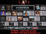 Playboy Slots Pay Table