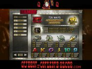 Rambo Slots Pay Table