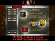 Rambo Slots Special Features