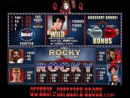 Rocky Slots Pay Table