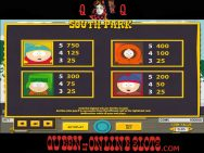 South Park Slots Pay Table