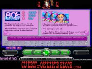 Super Eighties Slots Paylines