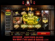 The Mummy Slots Scorpion Scatter