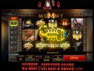 The Mummy Slots Scorpion Scatter