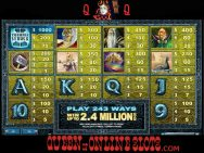 Thunderstruck 2 Slots Pay Table