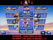 Top Gun Slots Pay Tables