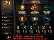 24 Slots Paytable