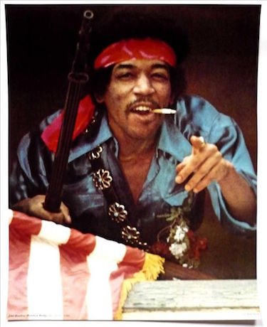 Jimi Hendrix Smoking Pointing