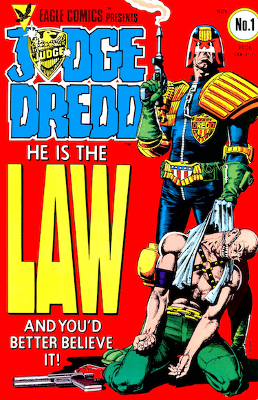 Judge Dredd Comic Cover