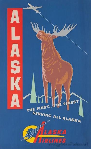 Alaska Airlines Vintage Poster