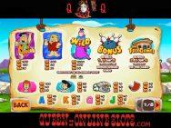 Flintstones Slots Paytable