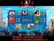Justice League Slots Paytable
