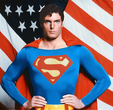 Superman with USA Flag