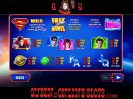Superman The Movie Slots Paytable