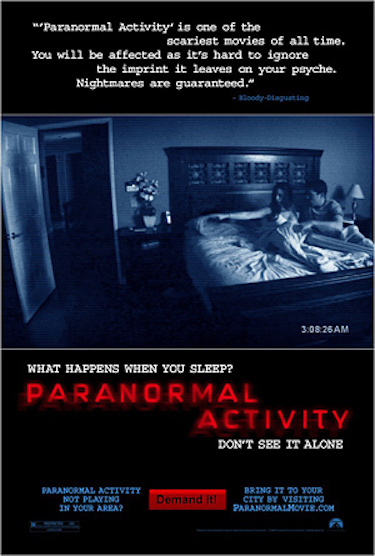 Paranormal Activity Original Poster