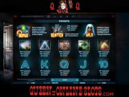 Paranormal Activity Slots Paytable