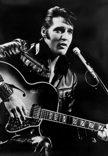 Elvis Guitar Leather