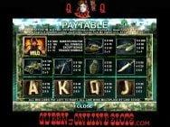 MIA Slots Paytable