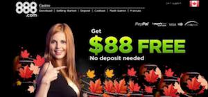 888 Casino Canada Free 88 No Deposit