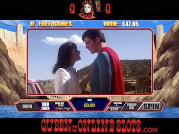Superman the Movie Free Spins in Canyon