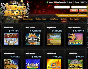 VideoSlots Current Jackpots