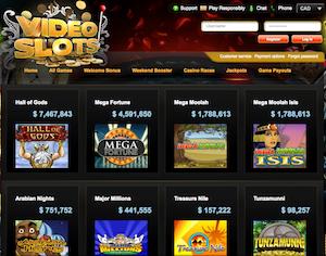 VideoSlots Current Jackpots