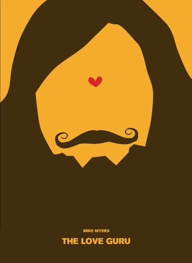 Love Guru Yellow Fan Poster