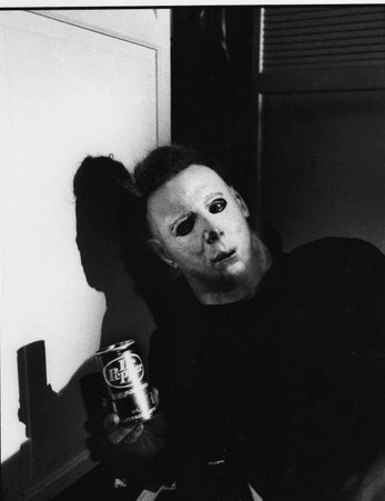 Michael Myers Holding a Dr.Pepper
