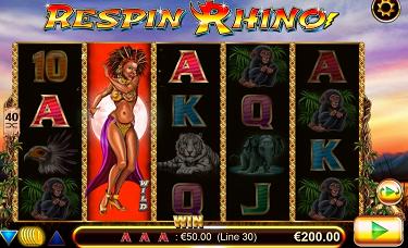 Respin Rhino Slot Reel