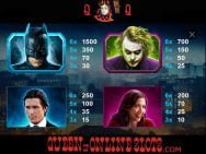Dark Knight Slots Paytable