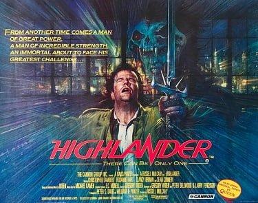 Highlander Original Movie Poster
